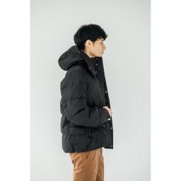 「TOPTHERMO」 ダウンミックスジャケット Side Style