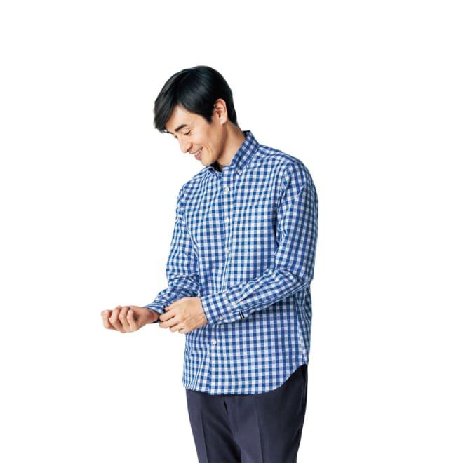 SCENE(R)/シーン 7DAYSジャパンメイドシャツシリーズ ドビーギンガム コーディネート例