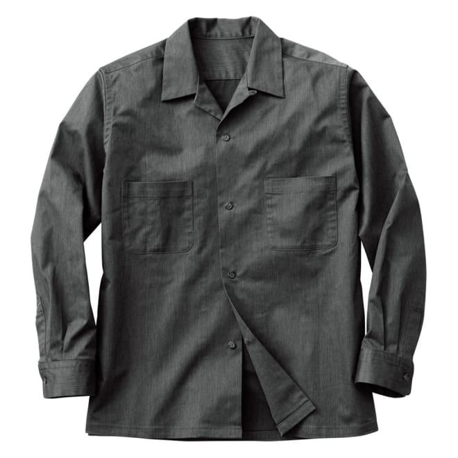 開襟シャツジャケット Front