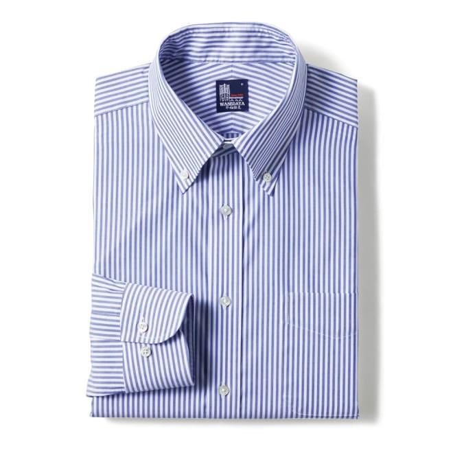 100番双糸 GIZAコットン ボタンダウン ワイシャツ (ア)ストライプ