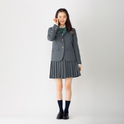 アジャスター付き 制服リボン (オ)グリーン系 コーディネート例