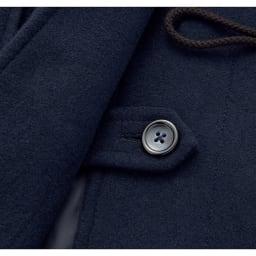 静電気防止 定番 ダッフルコート 裾内側にめくれ防止ボタン付き