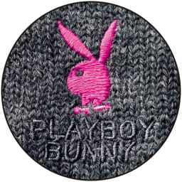 PLAY BOY bunny/プレイボーイバニー カーディガン (ア)チャコールグレー ロゴ刺しゅう