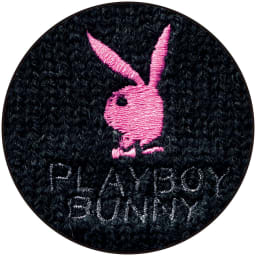 PLAY BOY bunny/プレイボーイバニー カーディガン (イ)ブラック ロゴ刺しゅう