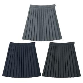 【47cm丈】 裏地・アジャスター付き 単色 プリーツスカート 写真