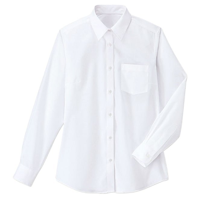形態安定・抗菌防臭 長袖シャツ
