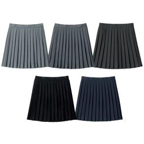 【42cm丈/サイズ55~70】 丈が選べる 単色 プリーツスカート 写真