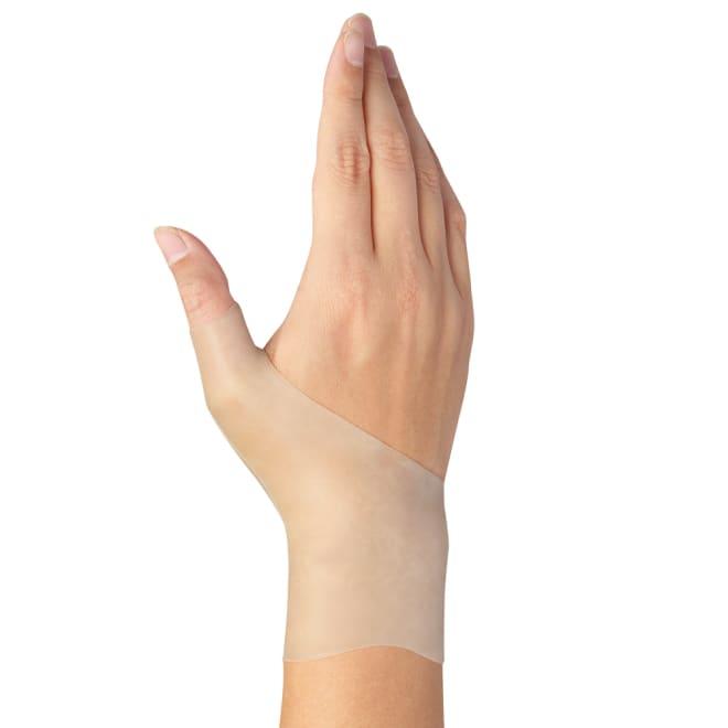 腱鞘サポーター 手首らーくロング(両手) ロングでも動きやすい曲線形状を両面に採用