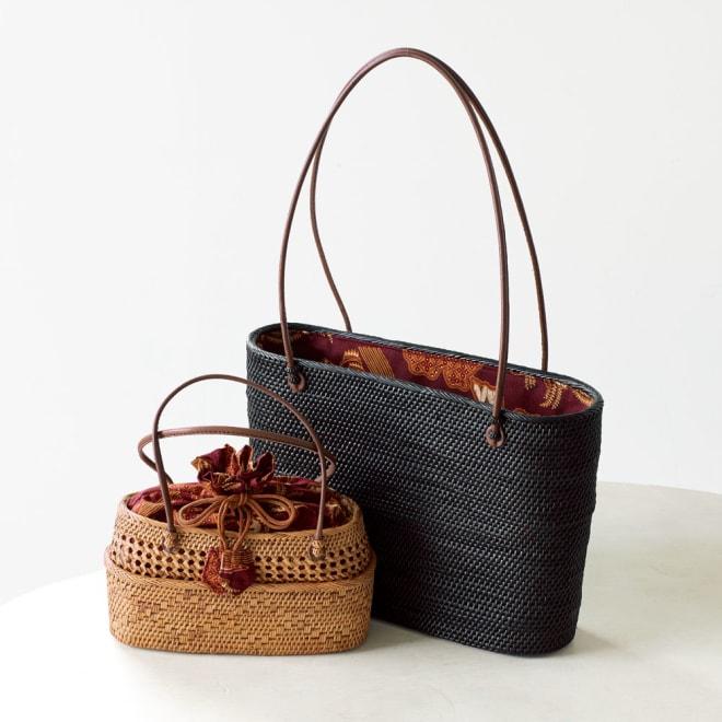 ナルミニさんのアタバッグ(トートタイプ) ブラックバッグ ※左のミニバッグは別売りです。