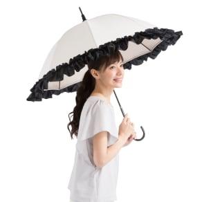 白川みきのおリボンUVカット涼感日傘 写真