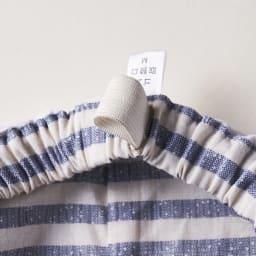 綿100%先染めボーダーパジャマ パンツはウエストゴム 取替口付