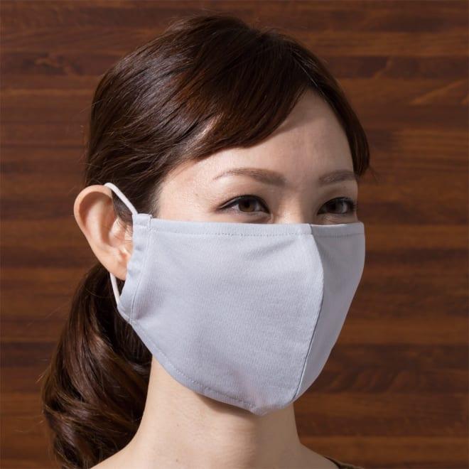 放熱 吸汗速乾 ムレにくいUVマスク 同色2枚組×2(4枚) (イ)グレー