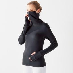 UVロングTシャツ サラリ (ア)ブラック コーディネート例