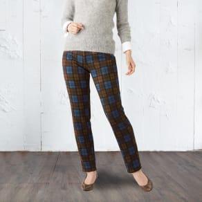 まるで毛布のような裏起毛美脚パンツ(2色組) 写真