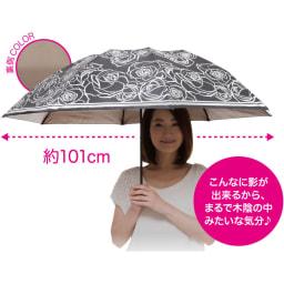 ~Fortuna~ 晴雨兼用折りたたみ遮熱日傘 (ア)ブラック