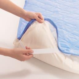 クールパッドプレミアムセット(枕パッド+敷パッド) 2セット ゴムバンドで装着簡単!