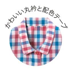 綿100%先染めパジャマ (ウ)ブルー系