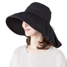 UVケープ付帽子 ~襟足美人~ 2色セット