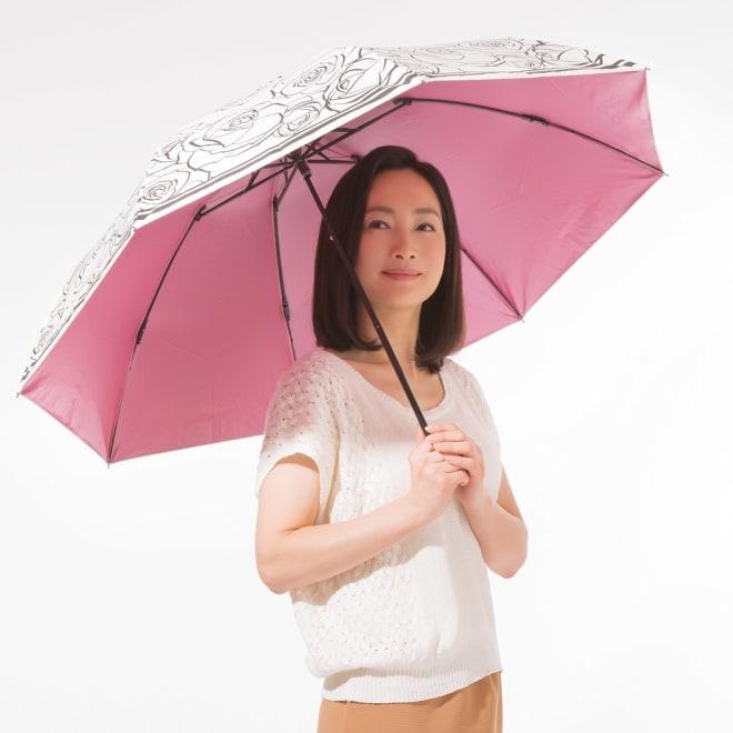 ~Fortuna~ 晴雨兼用折りたたみ遮熱日傘 (イ)ホワイト