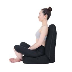 RAKUNA 整体座椅子プレミアム 【after】骨盤を立たせることで自然と背筋が伸びます。 ※イメージ