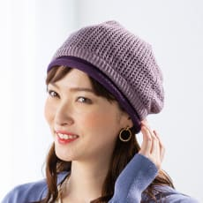 透かし編みニット帽子