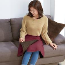 中綿キルト リバーシブル 巻きスカート 2色組