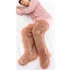 極暖 足が出せるロングカバー ストッパー付き 同色同サイズ2足組