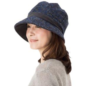 あったか小顔クロッシェ帽子 写真
