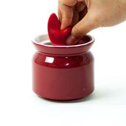 シリコンリッドジャー SILICON LID JAR レッド つまんで片手で簡単オープン