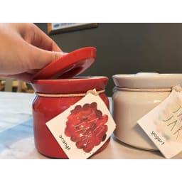 シリコンリッドジャー SILICON LID JAR ブラック 片手で簡単オープン◎容器は陶器。