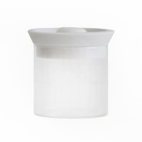 シリコンリッドジャー SILICON LID JAR ガラス S ホワイト 写真