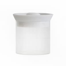 シリコンリッドジャー SILICON LID JAR ガラス S ホワイト