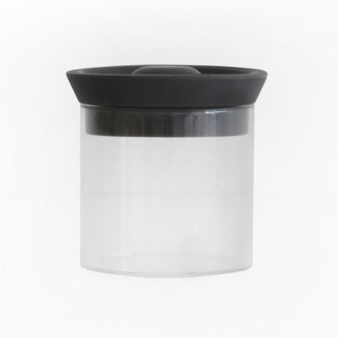 シリコンリッドジャー SILICON LID JAR ガラス S ブラック ブラック