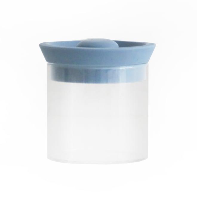 シリコンリッドジャー SILICON LID JAR ガラス S ブルーグレー 可愛いブルーグレー。耐熱ガラスがスタイリッシュで清潔