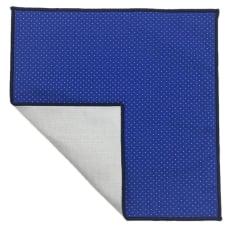 スマートポケットチーフ 水玉ブルー