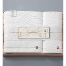 今治謹製 白織タオル 木箱入り バスタオル・ウオッシュタオル2枚セット SR3039