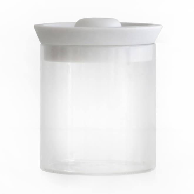 シリコンリッドジャー SILICON LID JAR ガラス L ホワイト