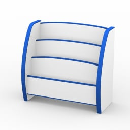 クッション付安心絵本立て幅65 ブルー