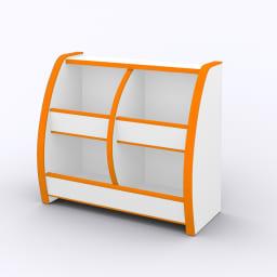 クッション付安心おもちゃ箱幅65 オレンジ