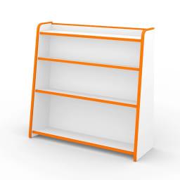 クッション付安心本棚幅93 オレンジ