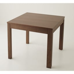 NobuII 伸長式スライディングテーブル ウォルナット材ダイニングテーブル 正方形幅85~143.5cm 側面片側にサブテーブルが収納されています