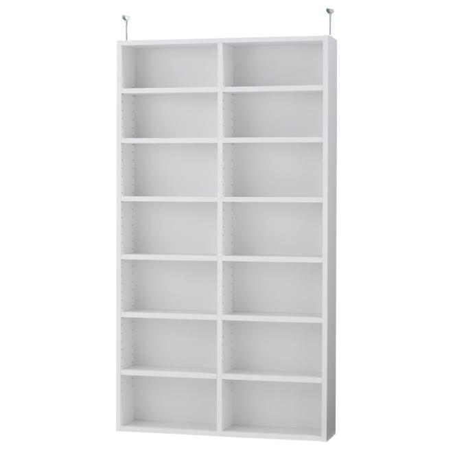 ユニット式ディスプレイラック 2列用上置き【収納・本棚】 専用上置き。シリーズの下台と組み合わせてお使い下さい。 (ア)ホワイト