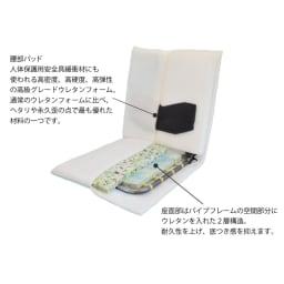 コンパクト収納チェア【座椅子】