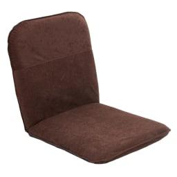 コンパクト収納チェア【座椅子】 (ア)ブラウン