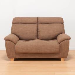 座ったまま眠ってしまうソファ ・幅147cm (ア)ライトブラウン