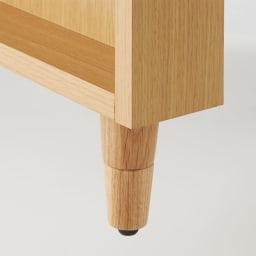 高さ調節ができる天然木センターテーブル 幅95cm 脚の高さは3段階に変えられます