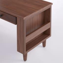 高さ調節ができる天然木センターテーブル 幅120cm マガジンラック付き