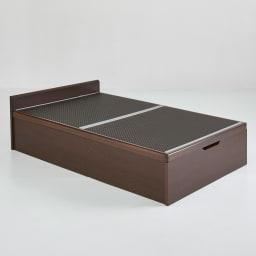 「美草」畳ガス圧収納ベッド ヘッドレスタイプ