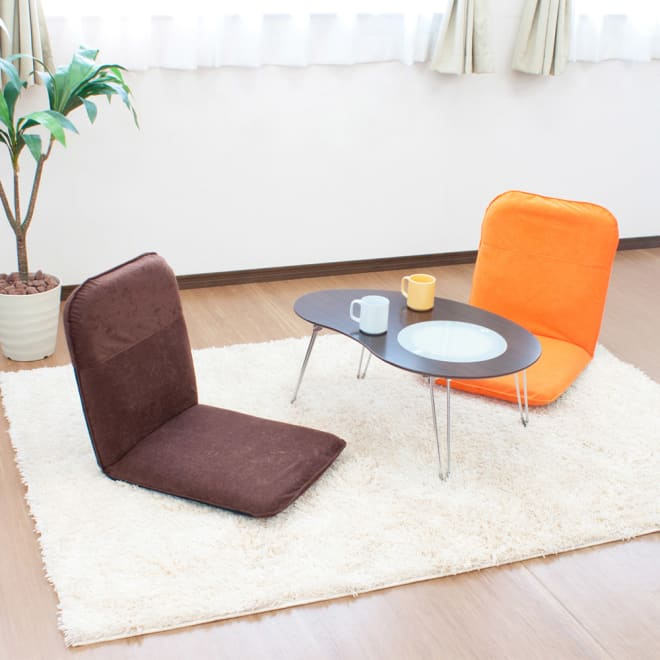 コンパクト収納チェア【座椅子】 お部屋のインテリアに合わせて5色よりお選びください。