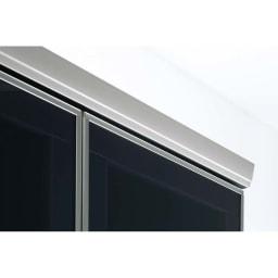 ラグジュアリー壁面TVボードシリーズ140<パモウナ VD-1400> 天板前面も高級アルミ仕上げ